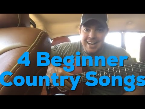 4 Beginner Guitar Country Songs Easy to Play  Country Song Teacher