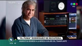 El Puma Rodríguez vuelve a los escenarios a un año del trasplante