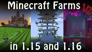 All Minecraft Farms updated for Minecraft 1.15/1.16 [Fun Farms Special 1/2]