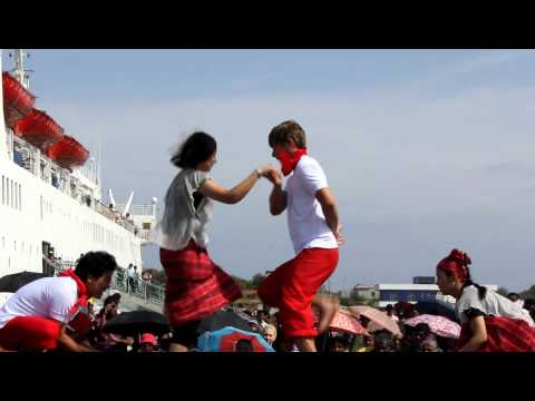 Chinese Dance at Hambanthota Harbor