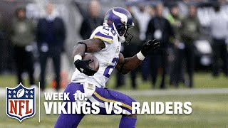 Peterson's 80-Yard TD Makes 91 Career TDs, Tied for 10th All-Time!   Vikings vs. Raiders   NFL