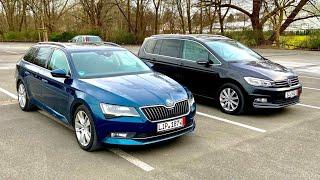 SKODA SUPERB 4x4 и VW TOURAN HIGHLINE 2016 из Германии