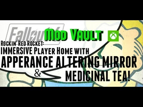 Fallout 4 Console Mods: IMMERSIVE Player Home with APPERANCE ALTERING MIRROR & MEDICINAL TEA! :D