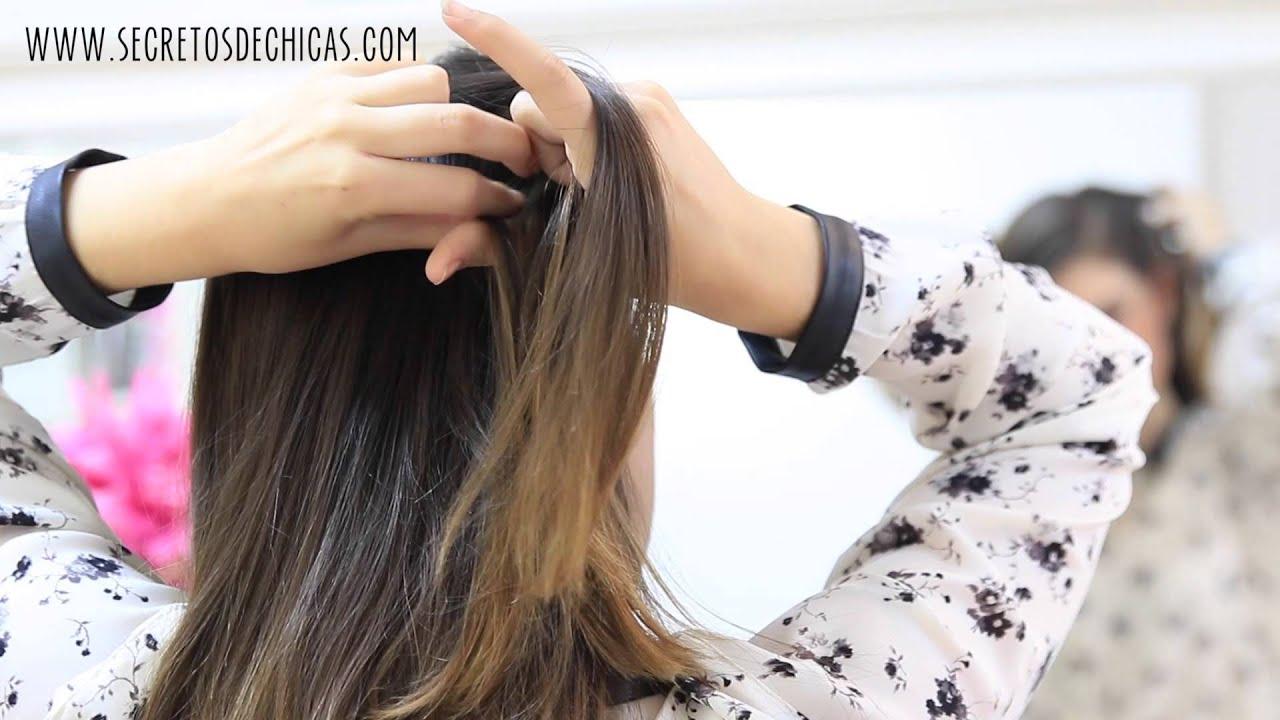 PEINADOS FÁCILES DE LADO CON TRENZAS - YouTube