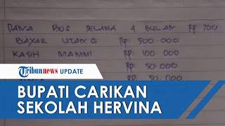 Bupati Carikan Sekolah untuk Hervina, Guru yang Posting Gaji Kecil di Medsos, Tak Datangi Panggilan