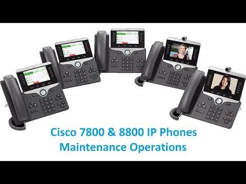 Cisco 7800 & 8800 IP Phones Maintenance Operations (Factory Reset, Remove CTL, Backup Image)