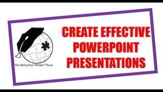 كيفية إنشاء فعالة PowerPoint تقديمي من قبل د. شيريل لينز