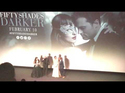 Cast Intro At FIFTY SHADES DARKER Premiere