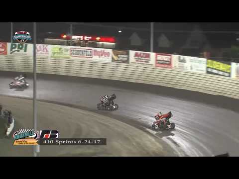 Knoxville Raceway 410 Highlights June 24, 2017