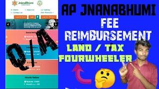 AP JNANABHUMI FEE REIMBURSEMENT PENDING FULL CLARIFICATION (TELUGU) BY MANOTECHINTELUGU 2020