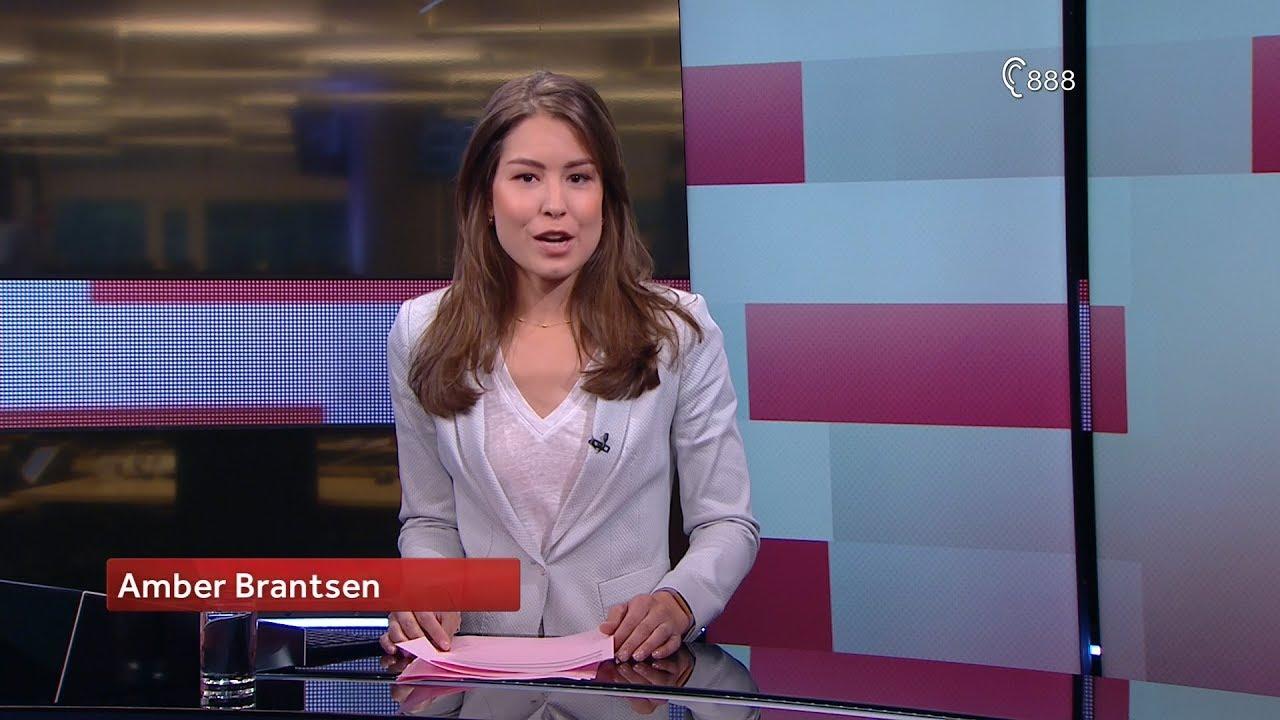 Amber Brantsen Eerste Nos Journaal Uitzending Nieuwe Presentatrice