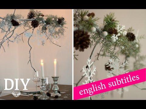 Weihnachtsdeko Basteln   Weihnachtlichen Zweig Dekorieren Tutorial | Deko  Kitchen   YouTube