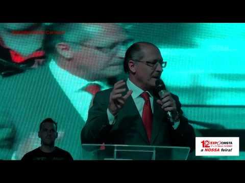 Governador Geraldo Alckmin Falando da EXPO CRISTÃ Por Getúlio Camargo