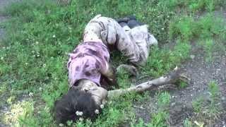 Иди и смотри: Пригород Донецка после арт обстрела
