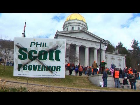 Gun rights activists stage dramatic protest after Vermont passes new gun safety laws