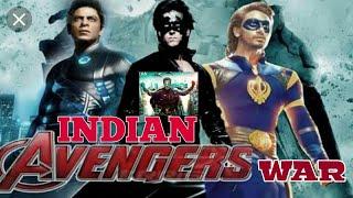 Indian Avengers War !! Krrish, robot,G. one remix war video !! Indian supper man
