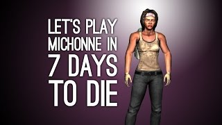 7 days to die gameplay let s play 7 days to die michonne vs zombies vs bear on xbox one