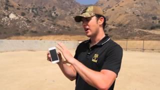 Краш тест Iphone 5. Выстрел из снайперской винтоки.