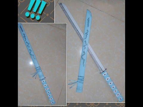 How to make paper Katana sword