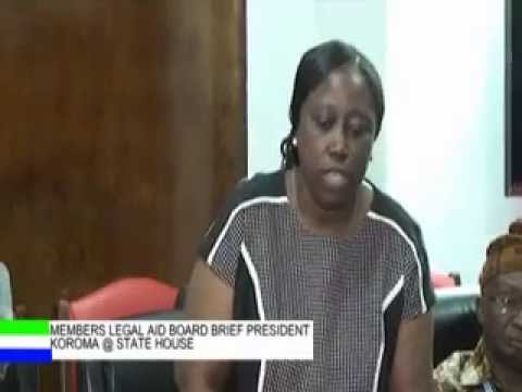 Members of the Legal Aid Board Brief President Koroma @ State House  Sierra Leone x264