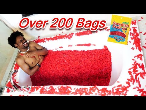 I FILLED MY ENTIRE BATHTUB WITH SWEDISH FISH FOR 2MIL (2 Million Subscriber Special - Part 1)