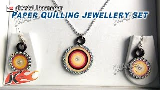 DIY Paper Quilling Jewelry Set |  How to make | JK Arts 375