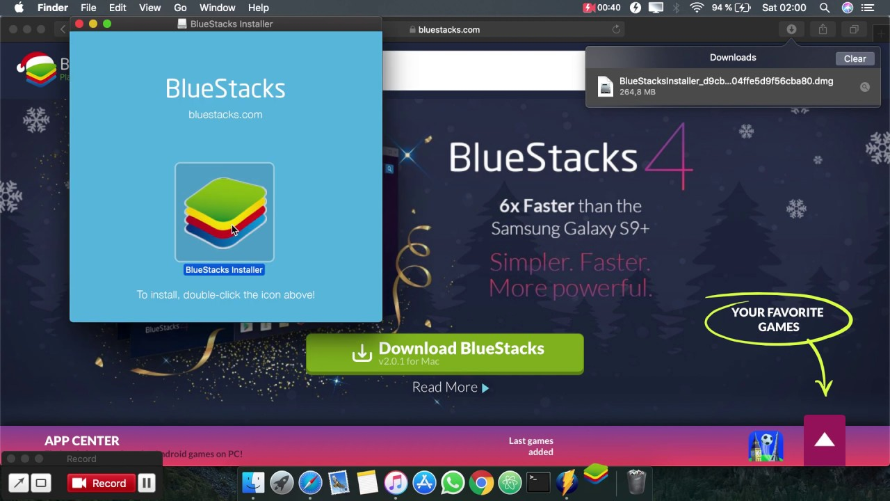 download bluestacks for mac os x 10