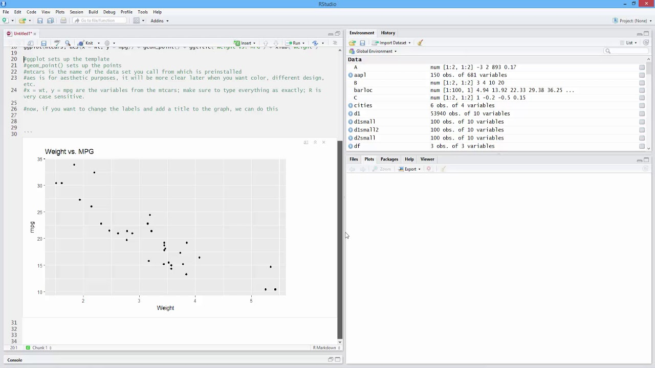 How to Add or Change Title for Scatterplot with ggplot2 in R  [HD]