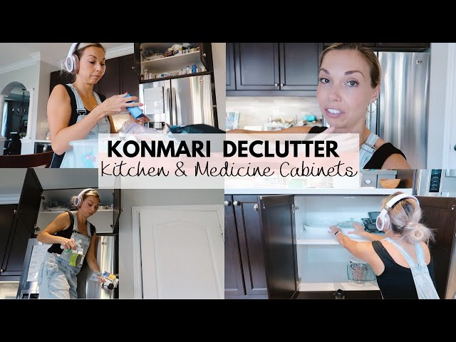 Konmari Method Declutter Pt. 1 | Medicine Cabinet | Kitchen Cupboards