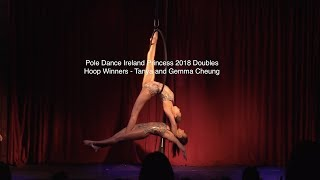 Pole Dance Ireland Princess Competition 2018 Doubles Hoop - Tanya and Gemma Cheung