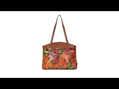 4f2b491386 Patricia Nash Poppy Leather TopZip Tote - YouTube