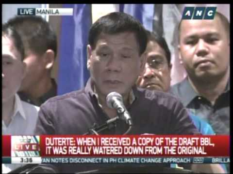 Duterte: Federalism is key to peace in Mindanao