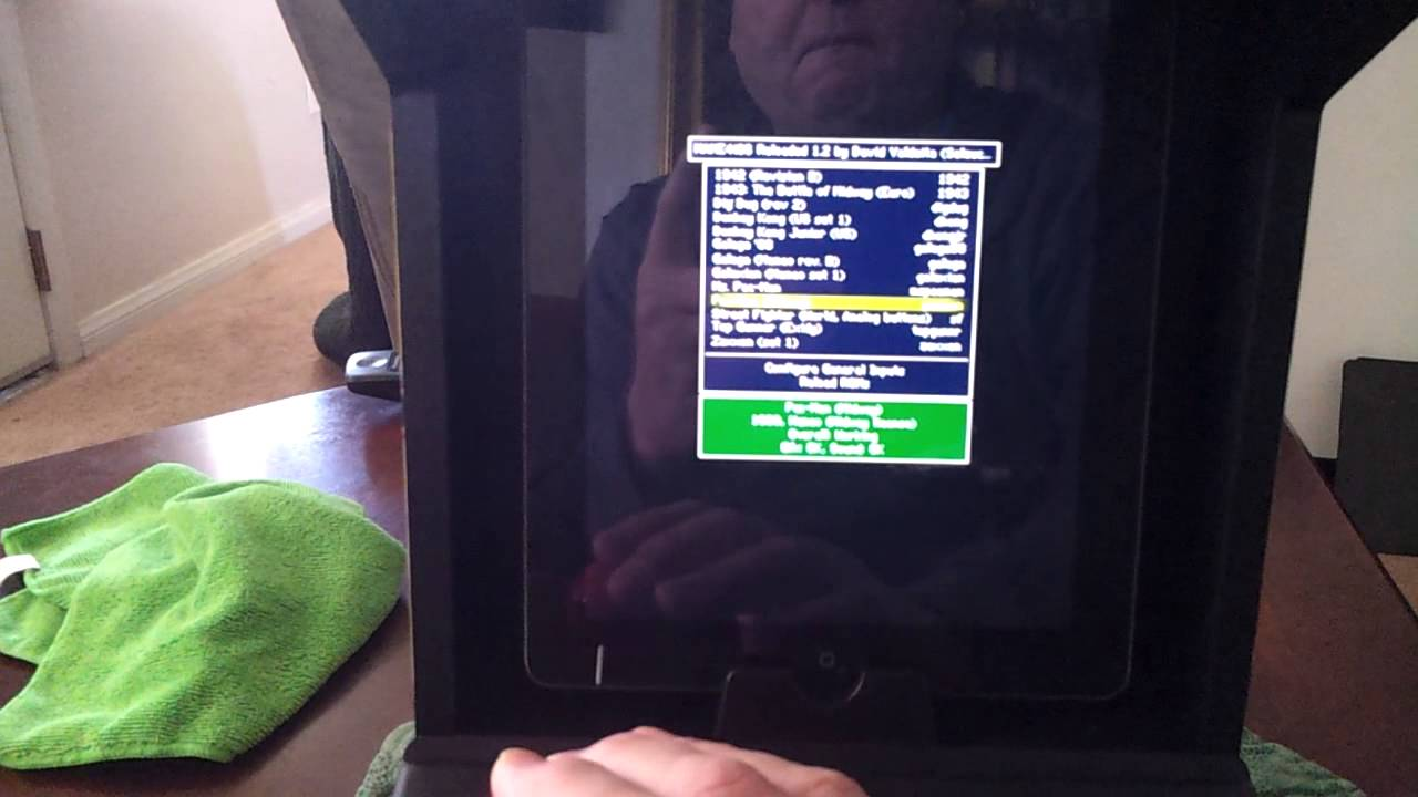 MAME4iOS running on my iPad and iCADE