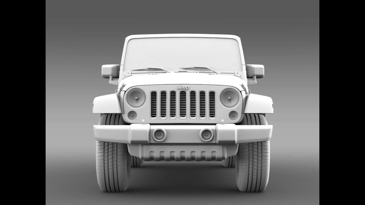 Jeep Models 2015 >> 3D Model of Jeep Wrangler Unlimited X 2015 Review - YouTube