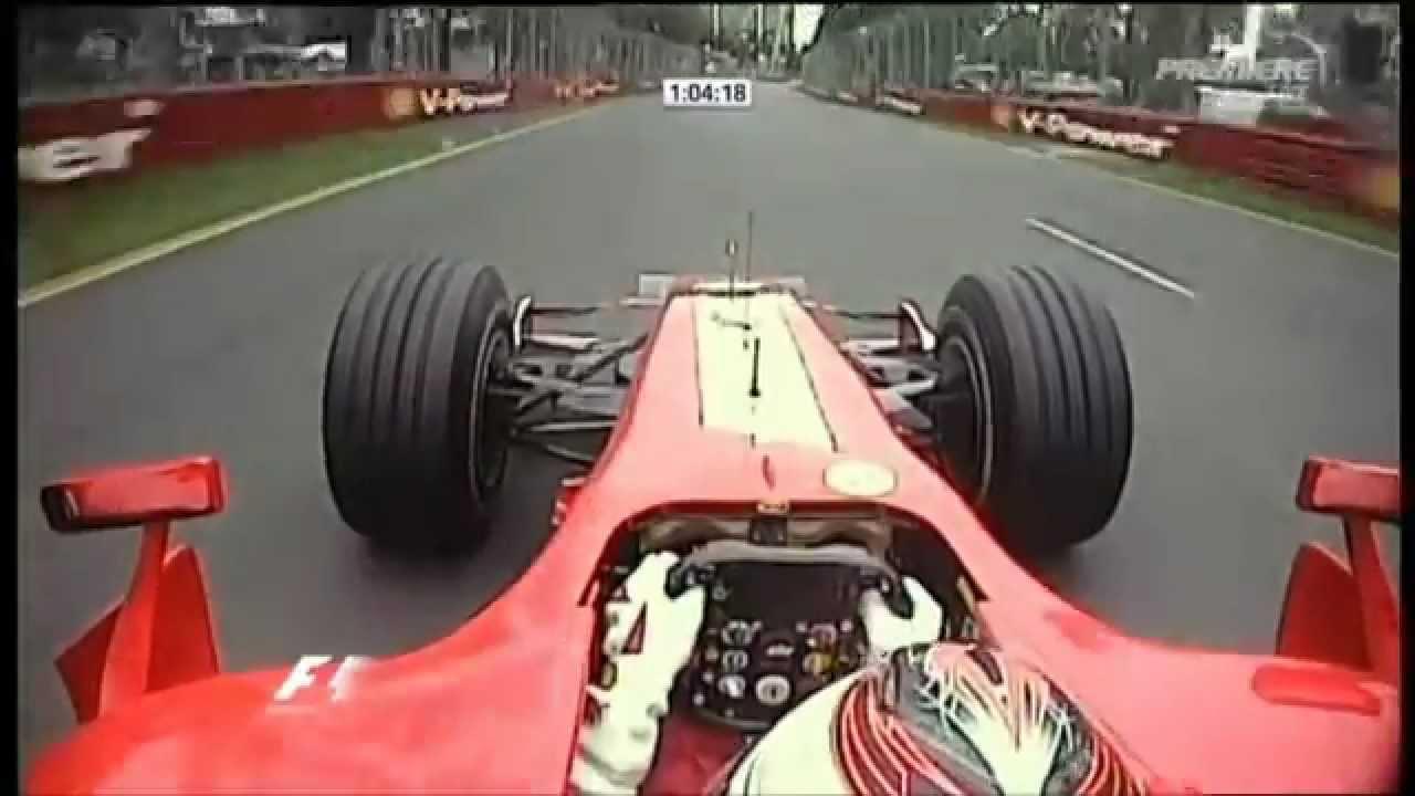 F1 2007 Kimi Raikkönen onboard at Australia (FP2) [PURE SOUND] - YouTube