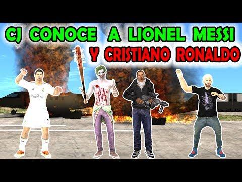 Cj conoce a Messi y Cristiano Ronaldo - Loquendo - Gta san andreas