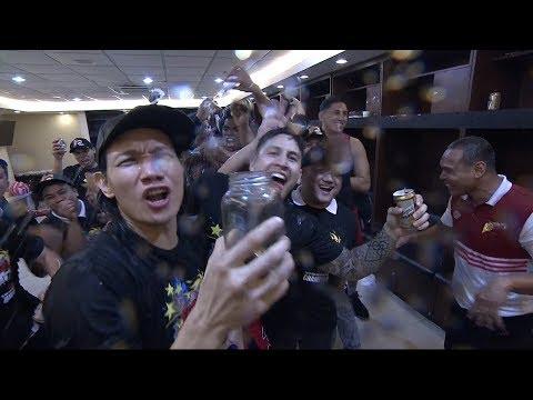 SMB's Locker Room Celebration - 2018 PBA Philippine Cup Champions (VIDEO)