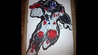 Drawing Optimus Primal From Beast Wars
