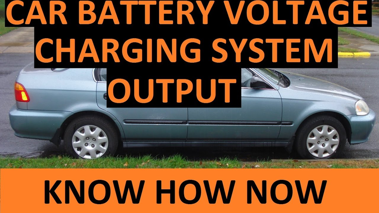 Test Car Battery Voltage With A Multimeter Youtube