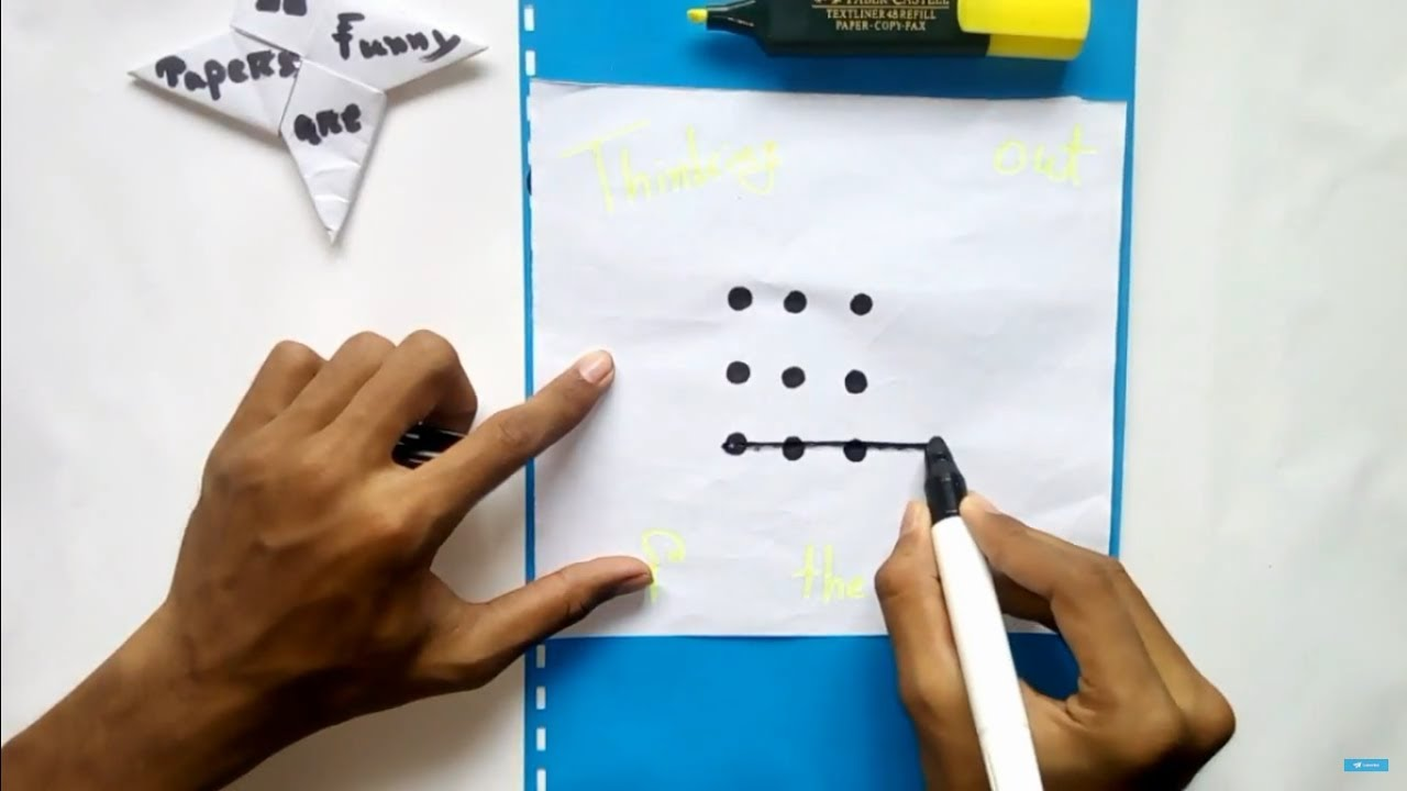 iq test 9 dots puzzle can you solve this youtube