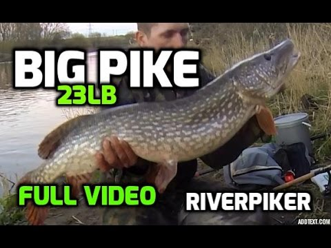 Pike Fishing - 23lb Northern Pike - Big River Pike FULL VIDEO (video 16)