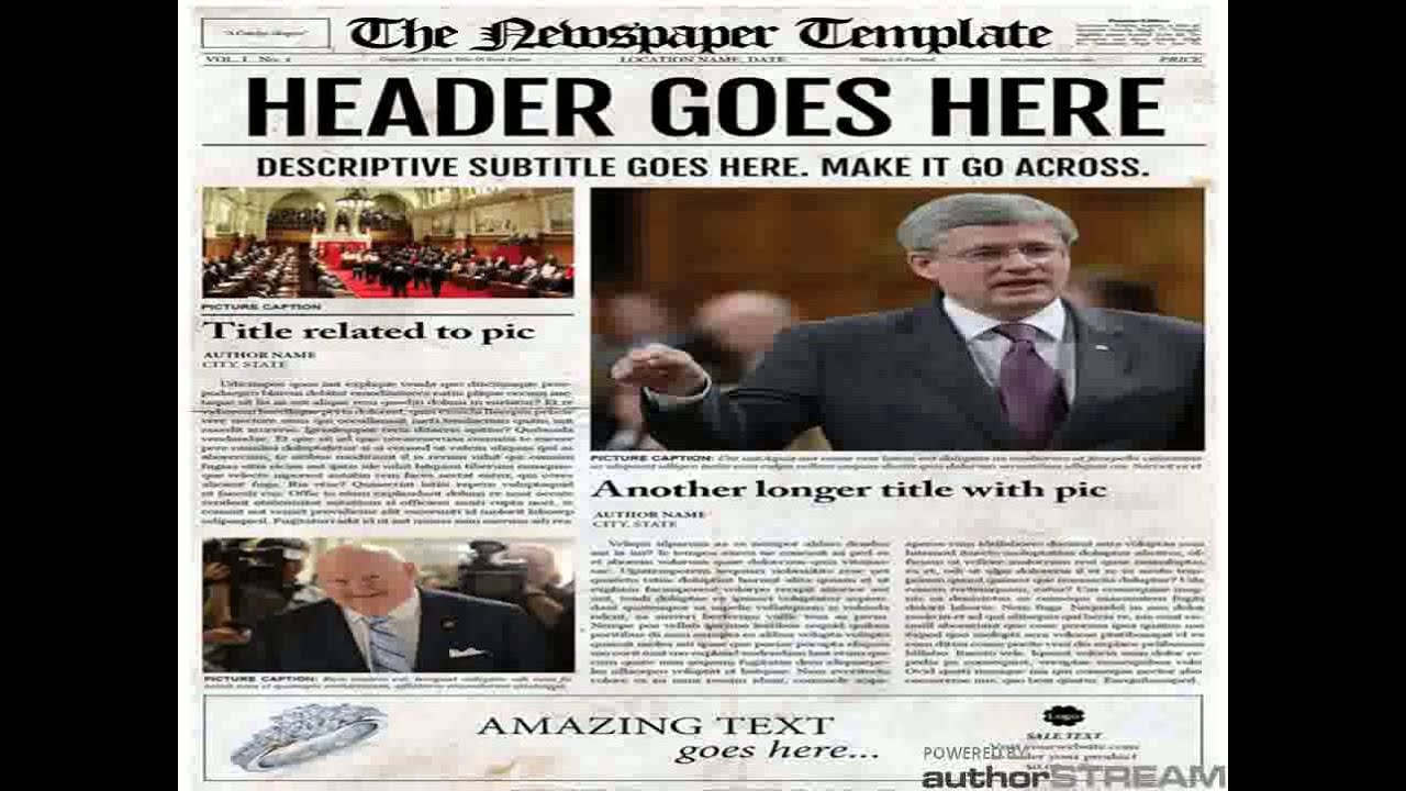 Old Style Newspaper Template   YouTube Old Style Newspaper Template