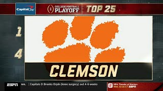College Football Playoff: Top 25 | (November 20th, 2018)