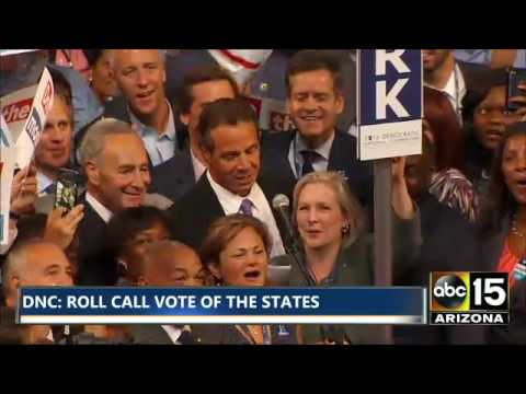 Gov. Andrew Cuomo - Roll Call Vote of States - NY - Democratic National Convention