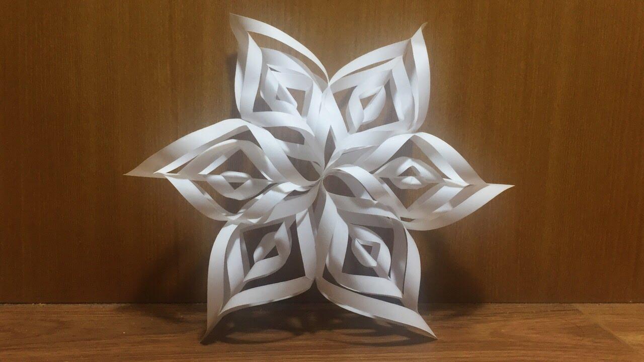 tutorial origami snowflake