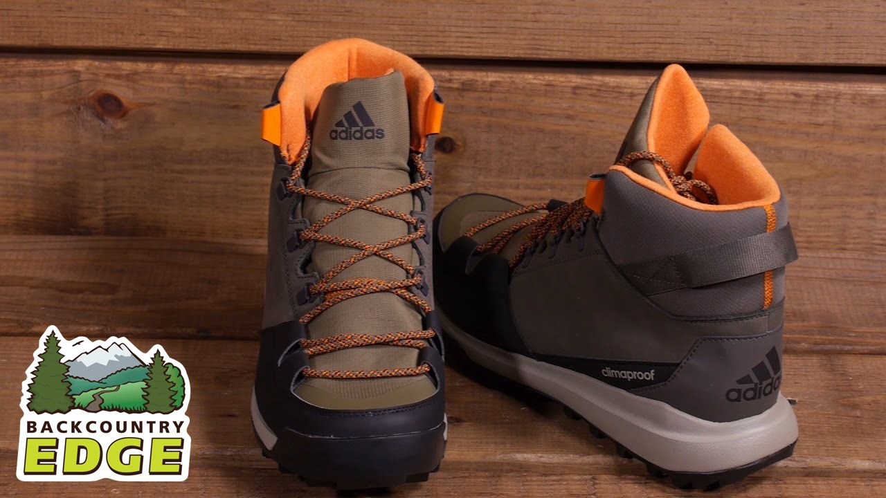 ff9851d5516 adidas Outdoor CW Winterpitch Mid CP Leather Insulated Boot - YouTube