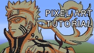 Minecraft Pixel Art Tutorial - Naruto Bijuu Mode