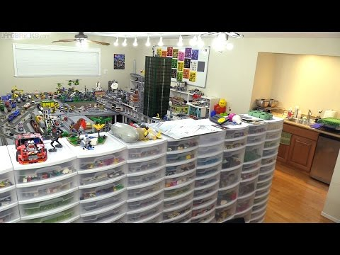 Complete LEGO Room Tour! Behind the scenes