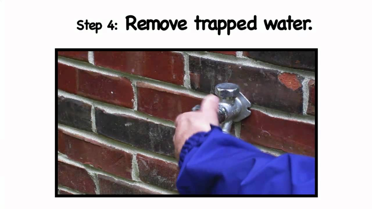 Protecting Your Outside Water Faucets in the Winter - YouTube