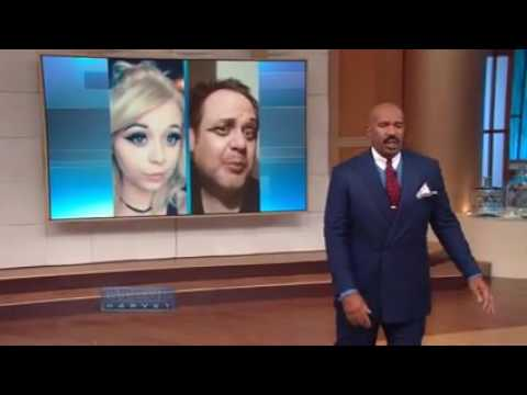 Selfie dad and my daughter on The Steve Harvey Show